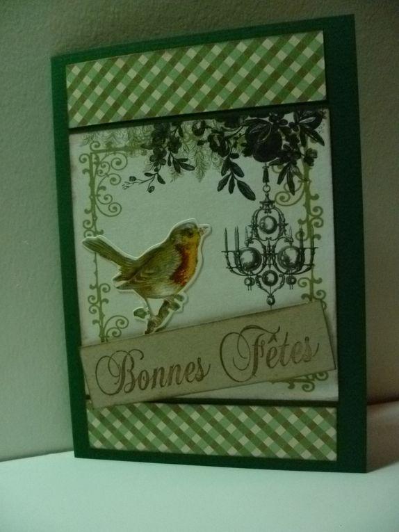 ma production de cartes fin d'année  2011