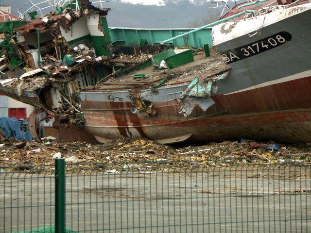 Hendaye février 2009 quatre bateaux détruits dit sortie de flotte