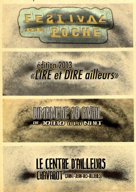 Affiches festival de poche  2013Copyright Emmanuel FAGE