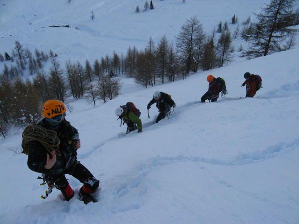 Photos du stage du mois de janvier &agrave&#x3B; Cogne avec Dieter, Kevin, Dierter2, Armand, Bart.