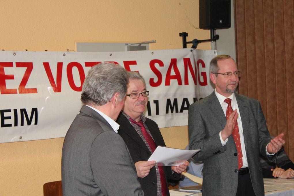 Notre 29ème AG a eu lieu le 15 Février 2013 à la salle des fêtes d'Entzheim en présence de 52 personnes dont quelques personnalités