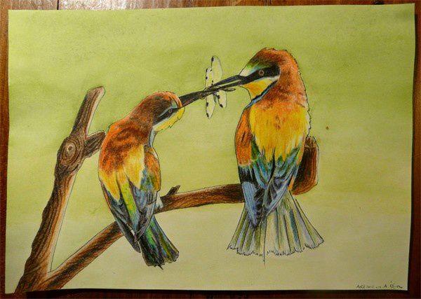 Gouache, crayons de couleur, pastels à l'huile, critérium...