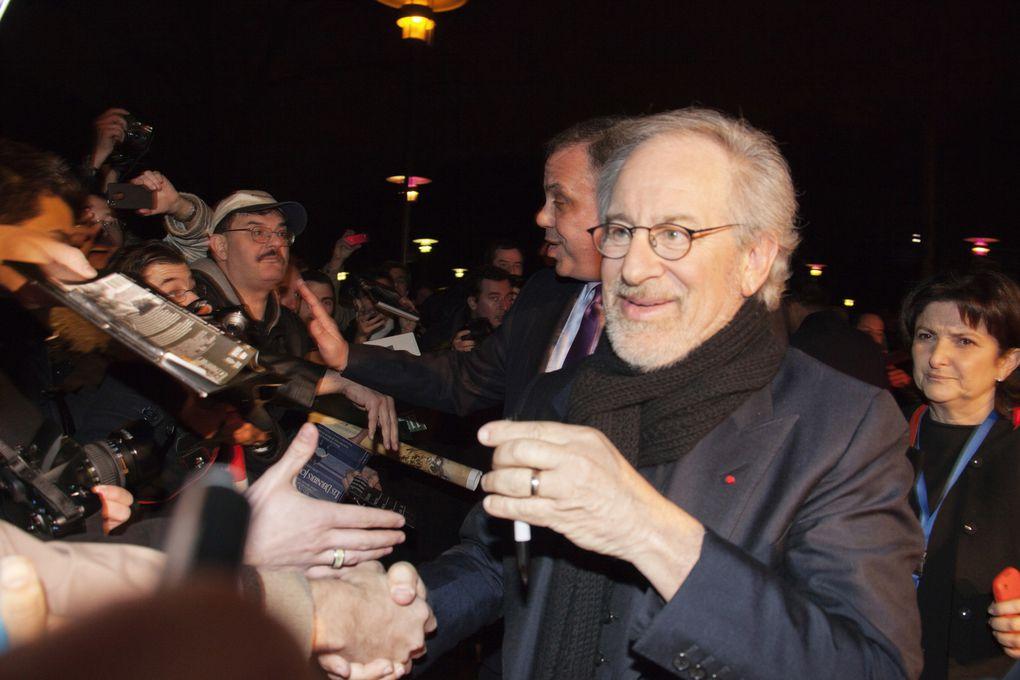 """Les images de la Master class de Steven Spielberg et de l'avant-première de """"Cheval de Guerre"""" qui se sont déroulées le 9 janvier 2012 à la Cinémathèque"""