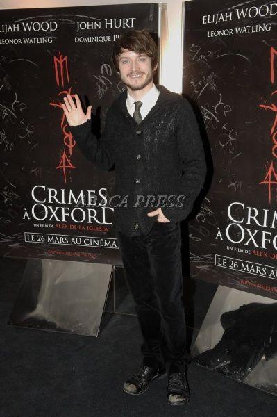 """Elijah Wood à Paris pour l'avant première de """"Crime à Oxford"""""""