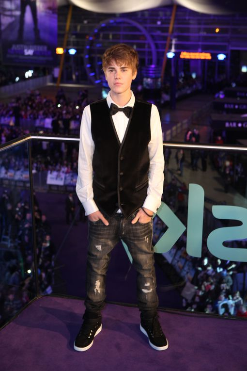 Justin Beiber: Never Say Never premiere at the 02 Arena on 16, Feburuary, 2010 in London, England.