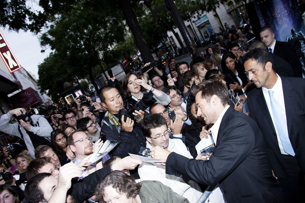 "Hugh Jackman at the Paris premiere of ""Real Steel"". - Grand Rex Paris 6-09-2011"