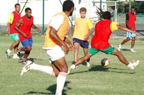 Sélection Calédonienne avant les jeux d'APIA
