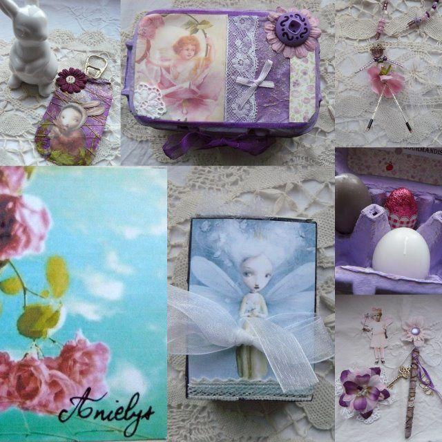 voici les petits trésors que je reçois régulièremnt et qui sont issus des échanges que je fais avec d'autres créatrices ...