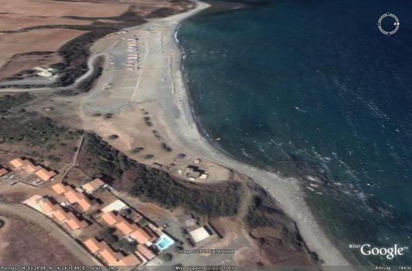 Azeffoun vue par Google Earth