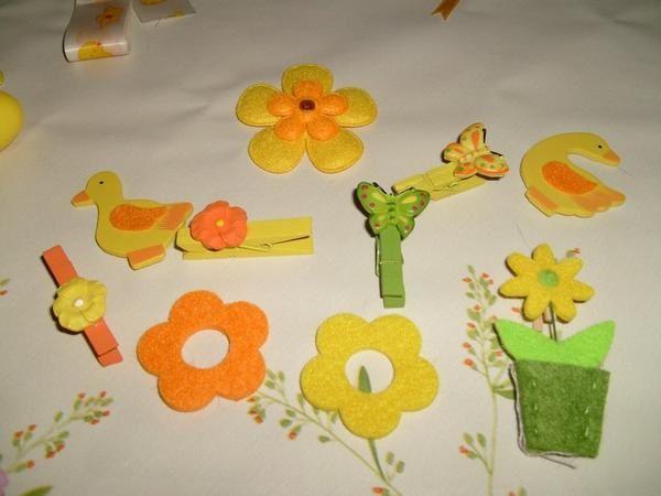 broderies et créations des copinettes et papillon à l'occasion d'échanges