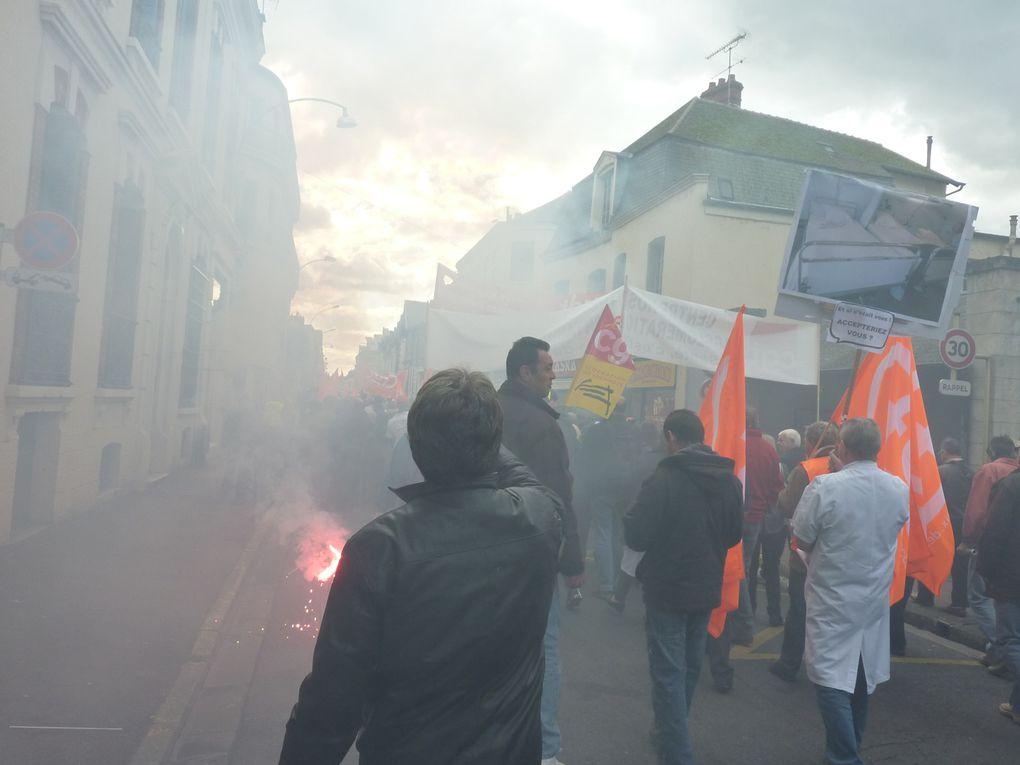 Réforme des retraites, le mouvement social sans précédent à Montargis: le 25 mai, les 7 et 23 septembre, les 2,12 et 16 octobre 2010