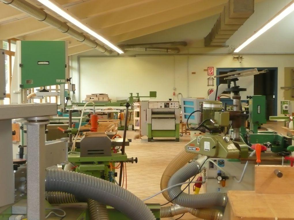 Des ateliers de menuiserie où les poussières de bois sont récupérées pour en faire des briques pour le chauffage, une piscine écolo et plein d'autres choses à Lintz en Autriche...