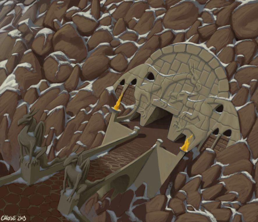 Une sélections de diverses illustrations tirées de l'univers le Fisednain le Célère.