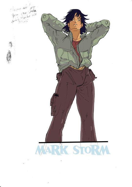 Portraits des personnages de la saga Mark Storm