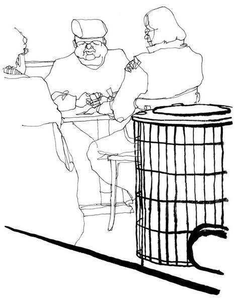 Croquis de bistrots, cafés, bars et autres troquets...