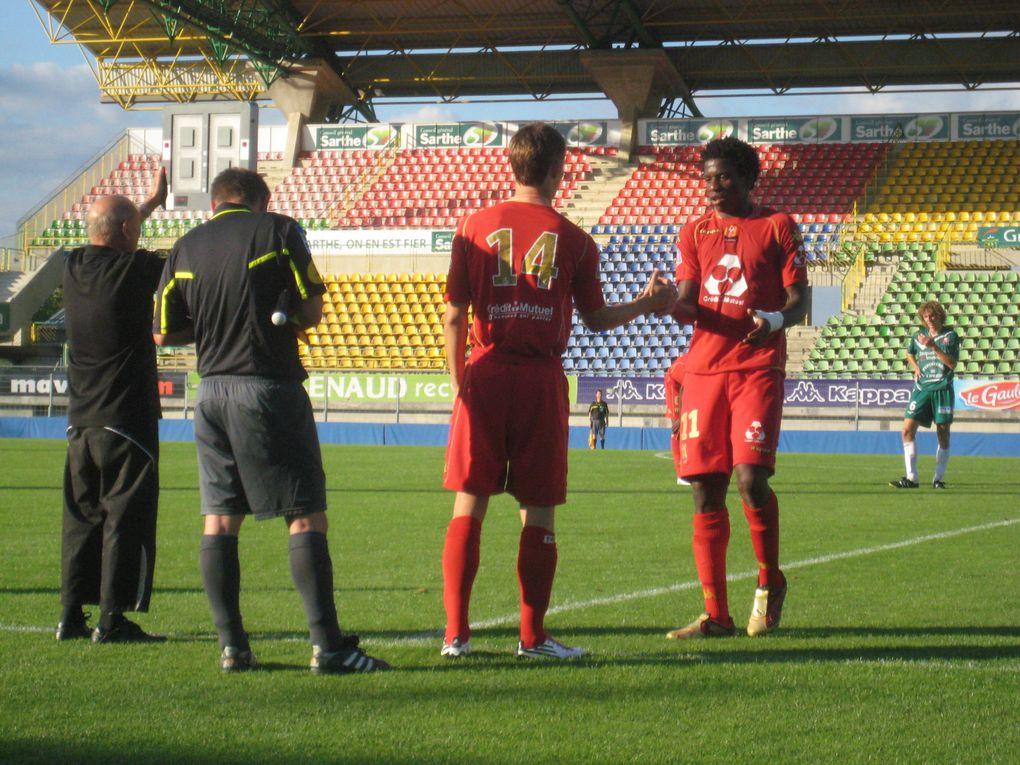 Dimanche 08 aout 2010, premier match de la CFA à domicile.LE MANS FC 1 - 0 CARQUEFOU.