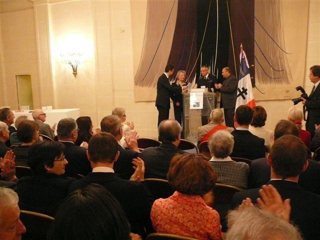 Remise des Diplômes et grands Diplômes d'Honneur de l'UGF au Sénat le 16/10/2009