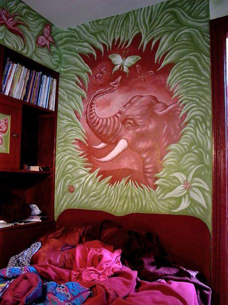 photos de peintures murales, Luna, compagnie le phun, explorarome, La petite fête des morts, Triton spectacle de Philippe Découflé, ...