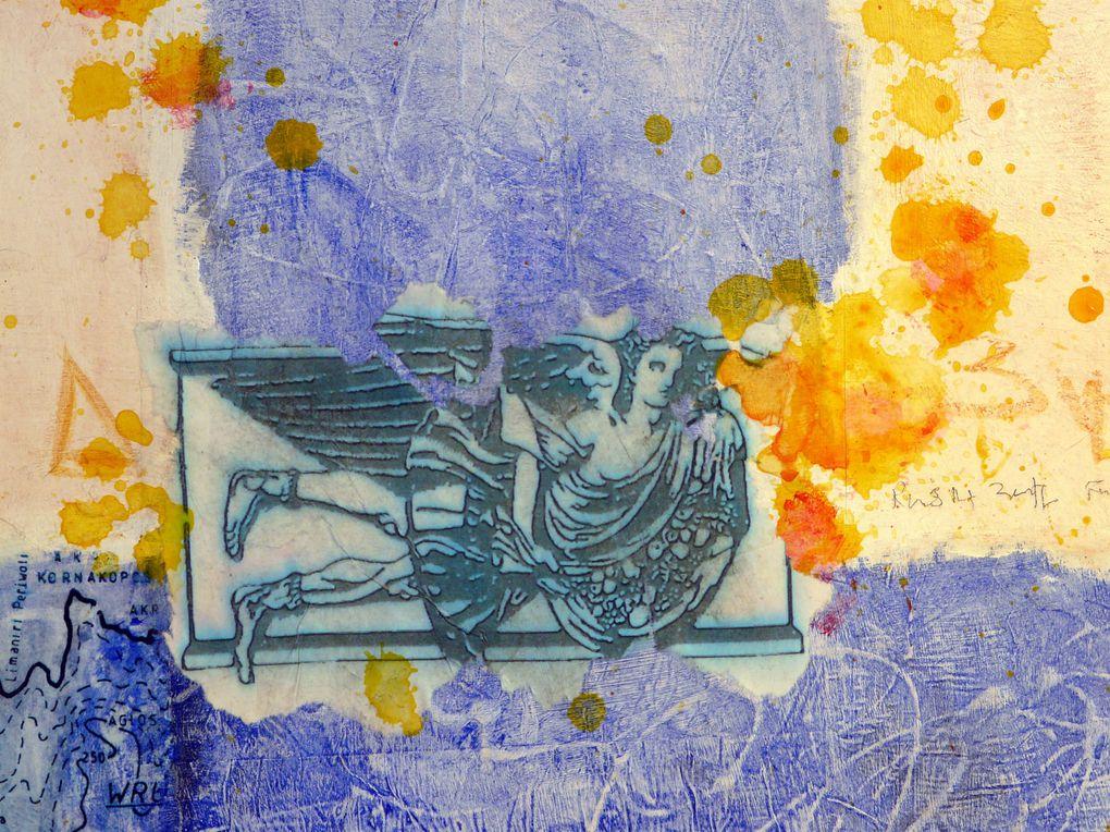 Technique mixte sur toileAcrylique, huile, pastel, collages, crayon