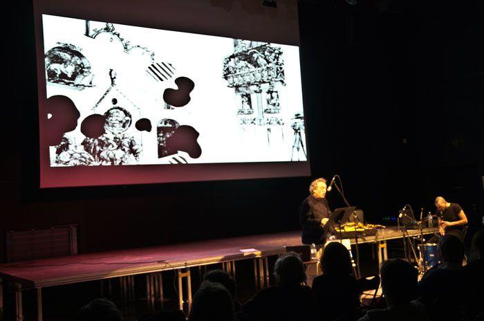 Printemps des Poètes 2011 - Laurent Grisel avec Fred Wall°ich et L.L de Mars. Médiathèque Marguerite Duras.