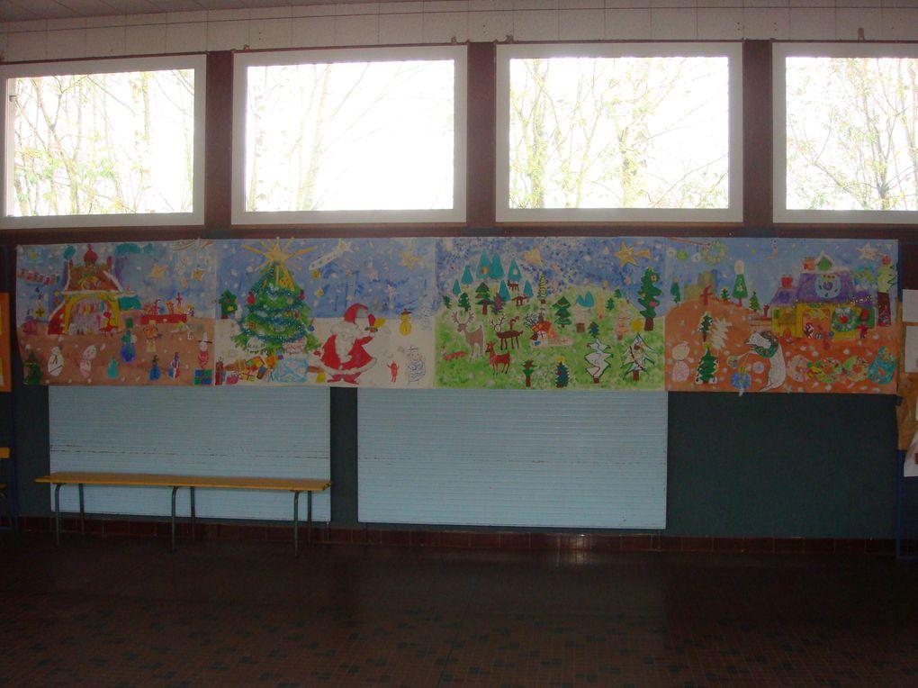 une fresque sur le thème de noël et de l'hiver