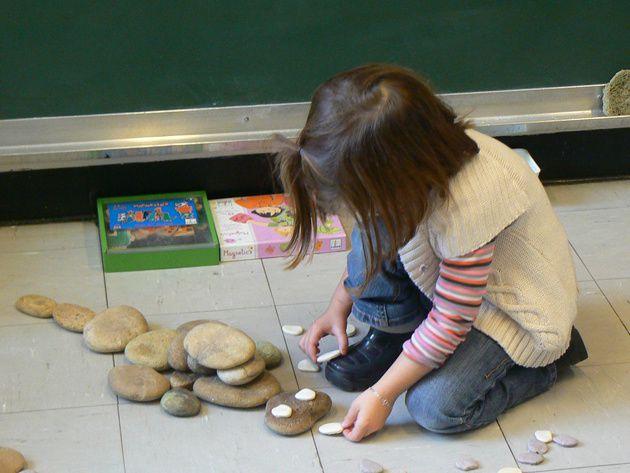 Travail réalisé avec les enfants de PS et MS de la classe de Claudie, école Ernest Renan B à Villeurbanne.