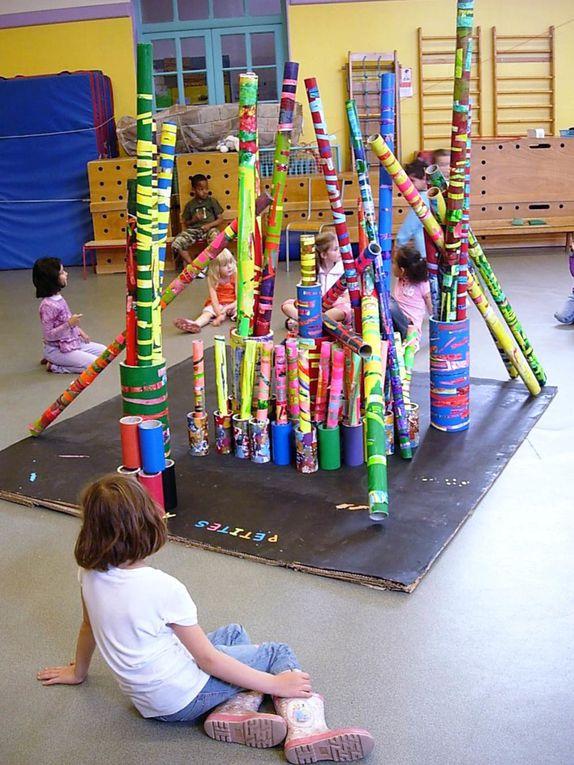 Travail réalisé avec des enfants de grande section de l'école maternelle Ernest Renan A à Villeurbanne.