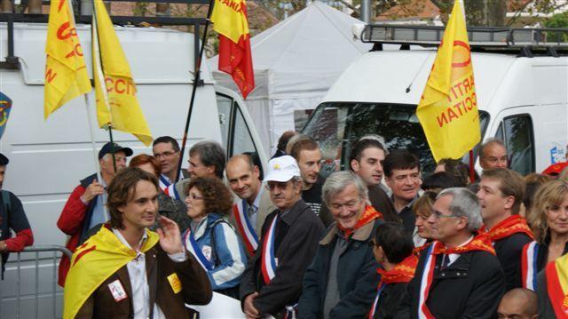 Protesta Carcassona 24 d'octobre de 2009 - Partit Occitan