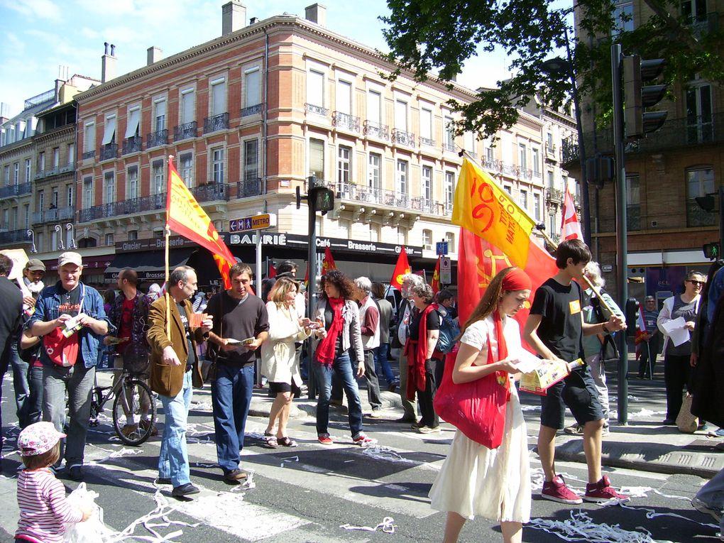 Manifestacion deu purmèr de mai 2011