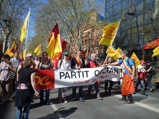 MAnifestacion Anem Oc lo 31 de març a Tolosa