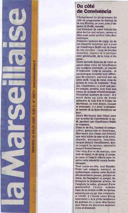 Revue de presse été 2009