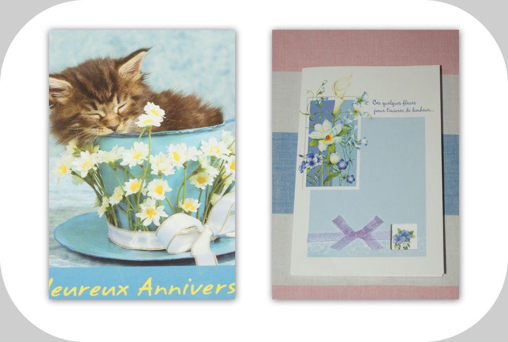 De belles cartes que je reçois et celles que j'envoie