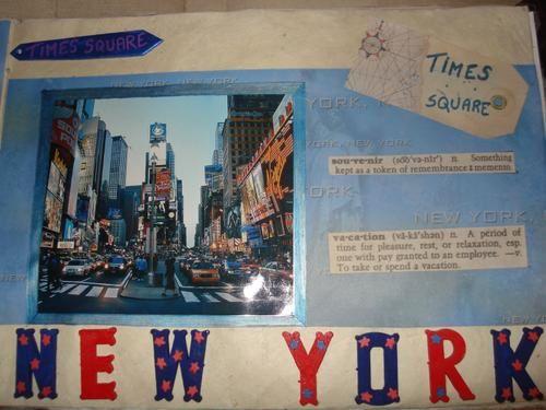 Vous trouverez quelques pages de mon album lors de mon voyage a NY en septembre 2007.Certaines pages sont expliquées pour la technique sur mon blog.Pour les autres au besoin demandez-moi
