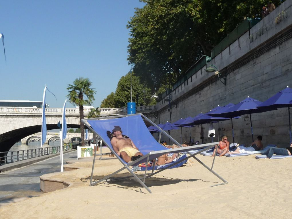 Paris a sa plage , animations diverses