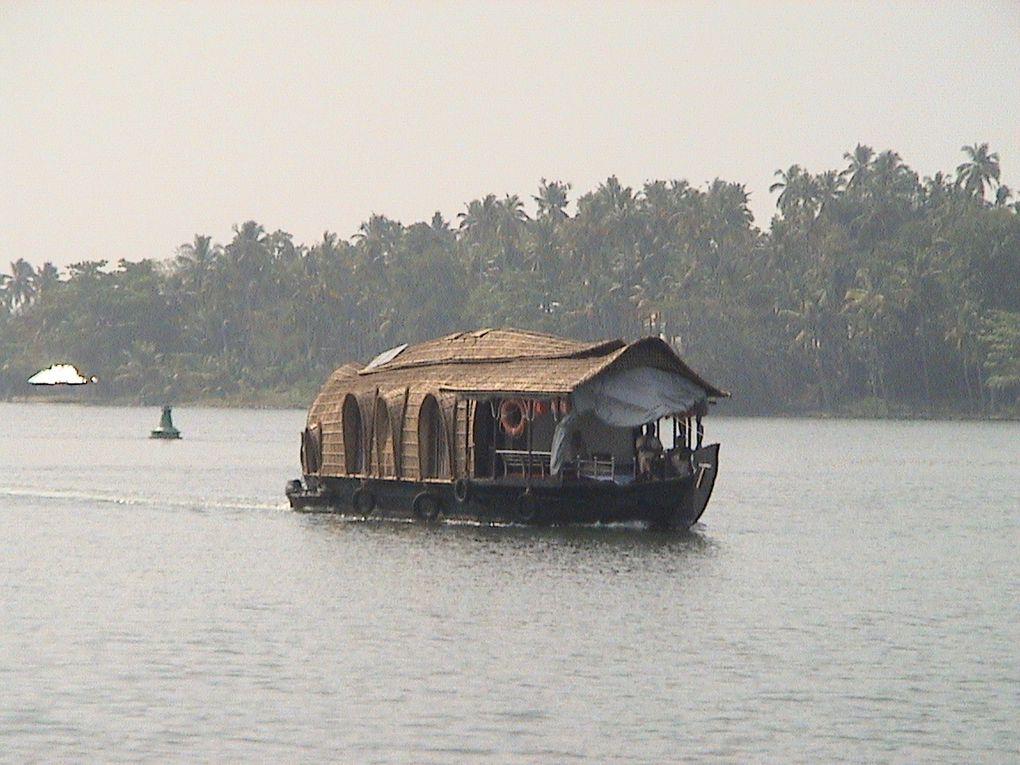 Kollam/allepey : une journée à travers les canaux de backwaters.