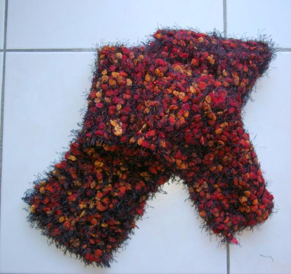 Mes réalisations écharpes et tricots en laine.