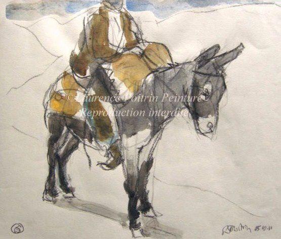 Voici mes ânes ! Y compris les peintures vendues.Toutes techniques, les derniers réalisés ce printemps, format 24x32 cm