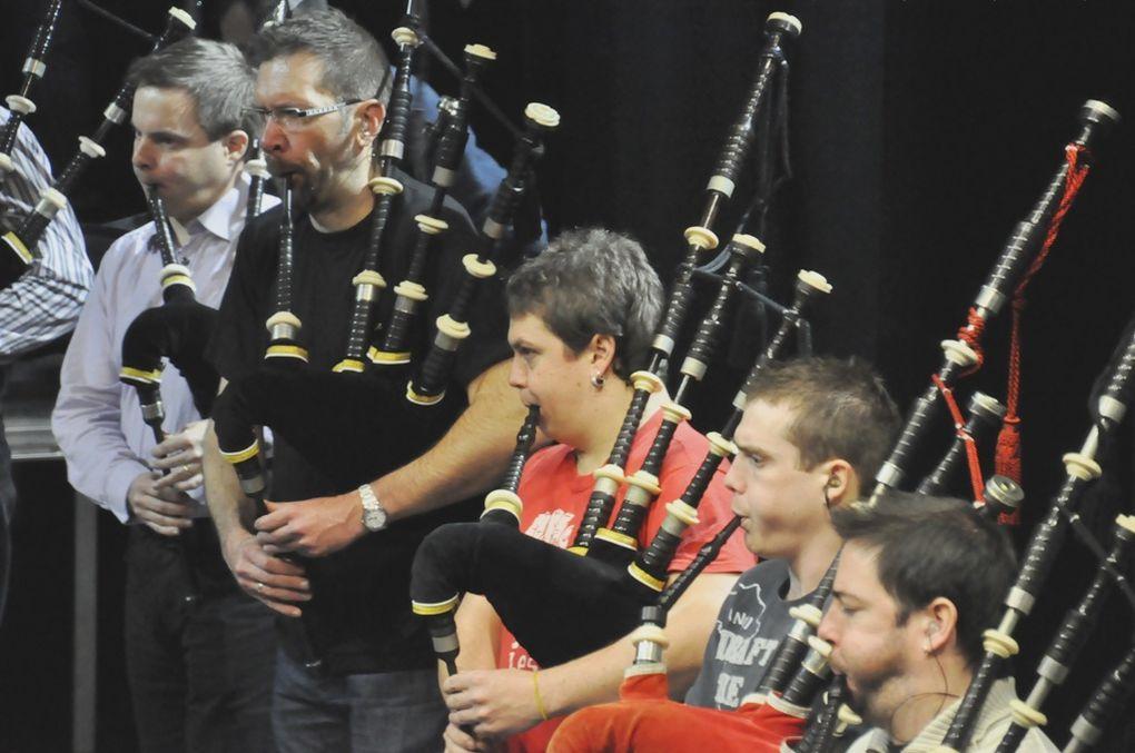 Le bagad Penhars, en répétition à la MPT de Penhars, la veille du concours de Brest.
