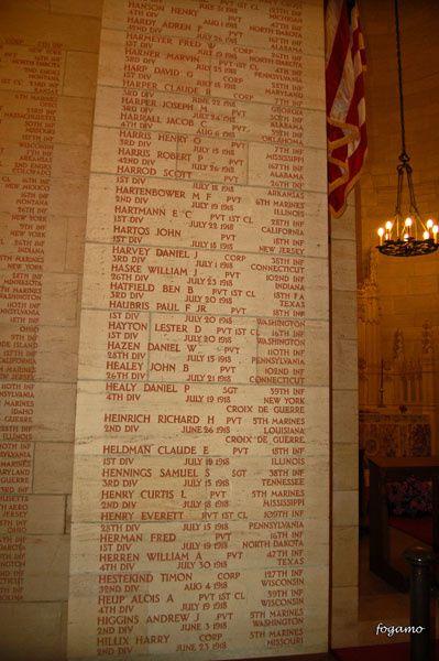 """A Belleau (02), des centaines de tombes de soldats morts au cours de la Guerre 14-18Mémorial, musée et immense """"Bois Belleau"""" attenant où ont eu lieu les affrontements"""