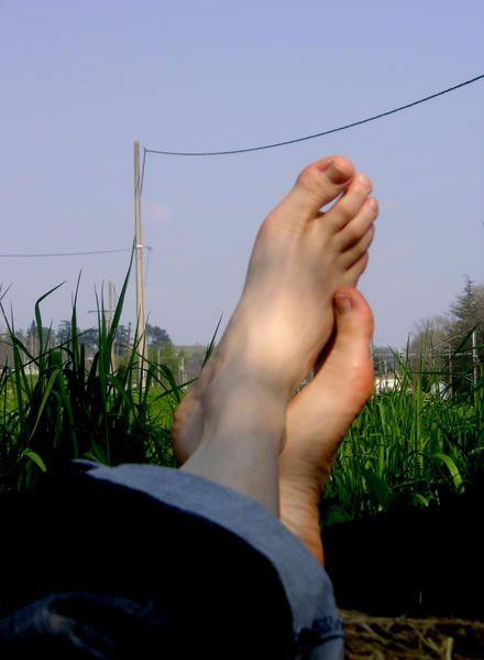 5 kms de pieds, ça inspire, ça inspire.... 5 kms de pieds.... ce n'est pas terminé !...
