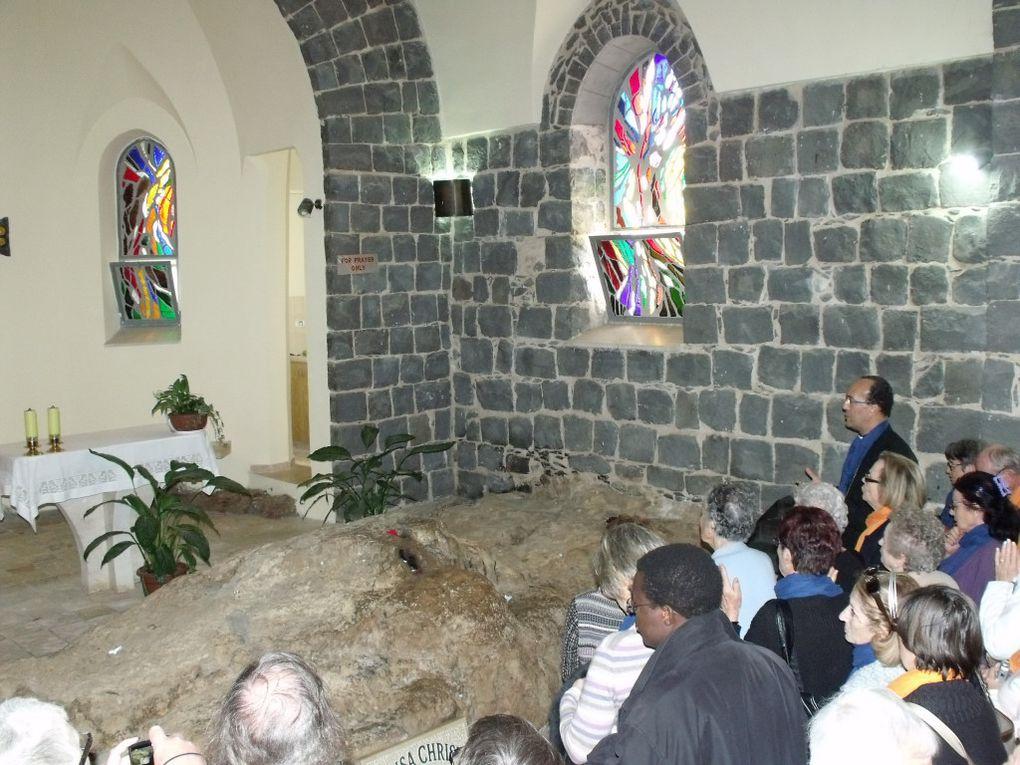 Pèlerinage en Terre sainte au mois de mars 2011, accompagné par Mgr Louis Sankalé, notre évêque et le père Gil Florini, directeur des pèlerinages