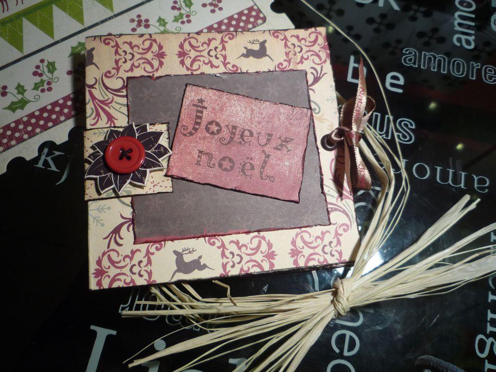 Vous trouverez ici toutes mes p'tites cartes...j'en ai fait bien plus, mais je les ai envoyées et pas photographiées...