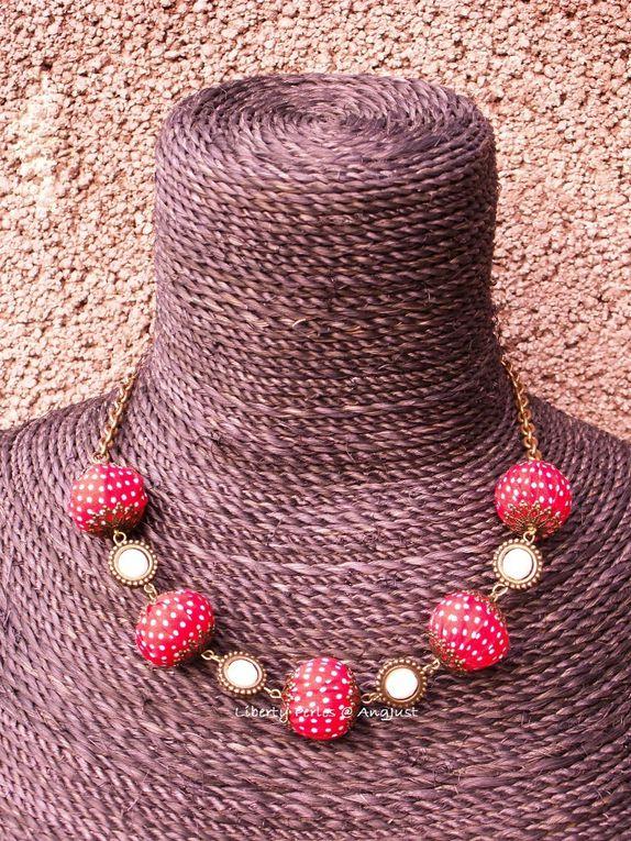 Création unique.Perles en tissu patchwork faites maison.DISPONIBLE
