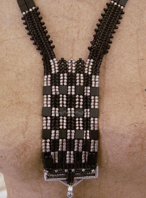 Collier Tila beads