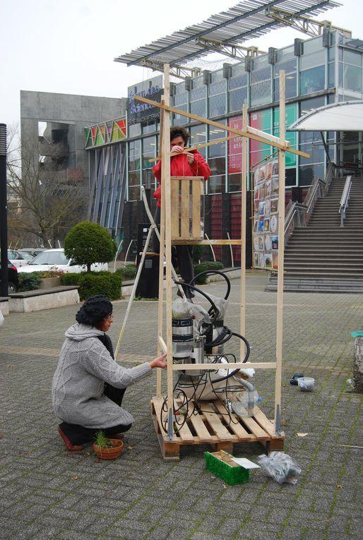 Installation pour le village de la maison durable (forum des sciences de Villeneuve  d'Ascq) - novembre 2011