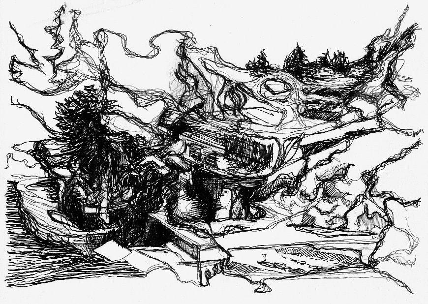 dessins au stylo-feutre sur papier A4
