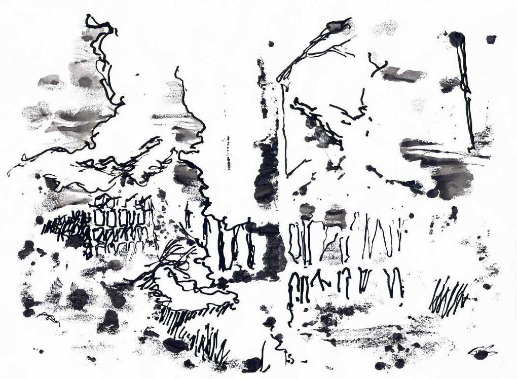 dessins au stylo feutre sur papier A4 80g