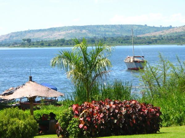 Jinja at the source of the Nile River, Uganda. Nice relaxing weekend afoot Lake Victoria.