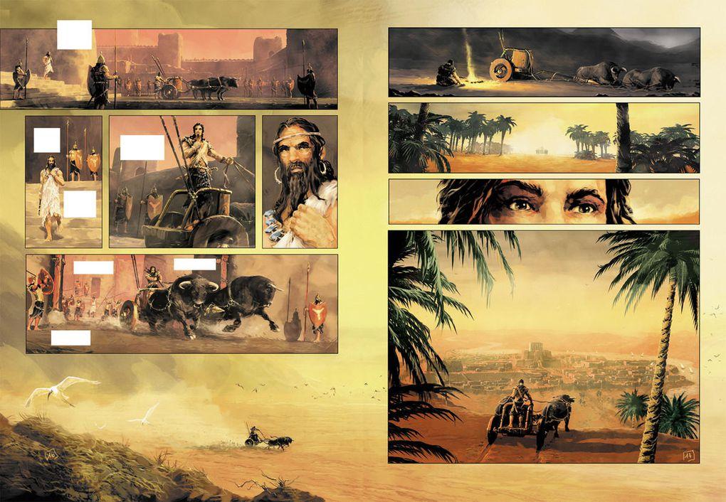 """Pages et recherches du tome 1 de """"L'Epopée de Gilgamesh"""" à paraître chez Soleil en janvier 2010, avec Alain BRION."""