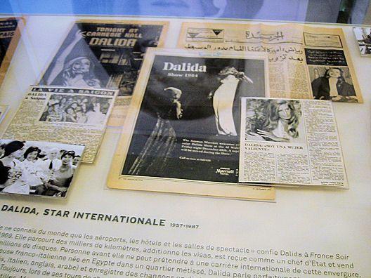 """Des photos de l'expo """"Dalida, Une Vie"""", qui a eu lieu à la Mairie de Paris, de Mai à Septembre 2007."""